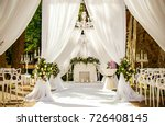 place for wedding ceremony in... | Shutterstock . vector #726408145