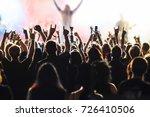 cheering crowd at rock concert... | Shutterstock . vector #726410506
