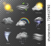 weather realistic 3d icons... | Shutterstock .eps vector #726413782
