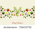 christmas colorful  decoration. ... | Shutterstock .eps vector #726415732
