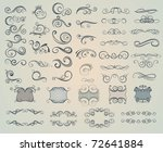 set of design elements | Shutterstock .eps vector #72641884