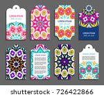 embroidery style vertical tag... | Shutterstock .eps vector #726422866