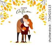 couple in autumn  vector... | Shutterstock .eps vector #726423115