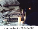 cozy home and cup of coffee | Shutterstock . vector #726426088