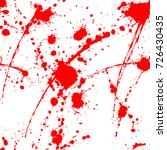 blood splatter seamless pattern ... | Shutterstock .eps vector #726430435
