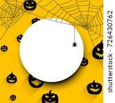 orange round halloween... | Shutterstock .eps vector #726430762