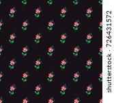 vintage rose flower vector...   Shutterstock .eps vector #726431572