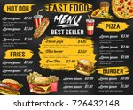 fast food menu template for... | Shutterstock .eps vector #726432148