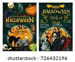 halloween holiday horror party... | Shutterstock .eps vector #726432196