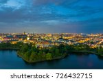 skyline of copenhagen city... | Shutterstock . vector #726432715