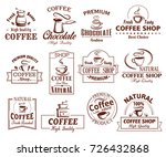 coffee cup icons template for... | Shutterstock .eps vector #726432868