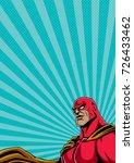 background with superhero... | Shutterstock .eps vector #726433462