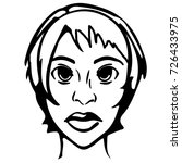 woman head. black and white... | Shutterstock .eps vector #726433975