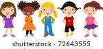 five girls | Shutterstock .eps vector #72643555
