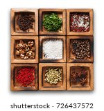 spices assortment isolated on... | Shutterstock . vector #726437572