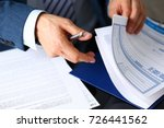 male arm in suit offer... | Shutterstock . vector #726441562