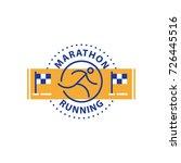 running logo  marathon...   Shutterstock .eps vector #726445516