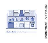 kitchen design solution ... | Shutterstock .eps vector #726446602