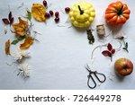 autumn mood yellow leaves ... | Shutterstock . vector #726449278