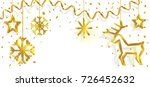 christmas hanging ornaments... | Shutterstock .eps vector #726452632