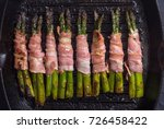 asparagus with bacon on grilled ... | Shutterstock . vector #726458422