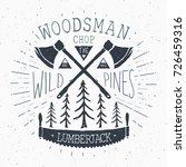 lumberjack at work vintage... | Shutterstock .eps vector #726459316