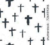 cross symbols seamless pattern... | Shutterstock .eps vector #726459346