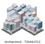 urban isometric area of the... | Shutterstock .eps vector #726461512