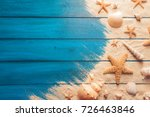 summer time concept with sea... | Shutterstock . vector #726463846