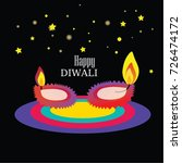 diwali festival background... | Shutterstock .eps vector #726474172