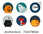 halloween elements  objects and ... | Shutterstock .eps vector #726478066