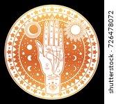 vintage fortune teller hand... | Shutterstock .eps vector #726478072