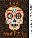 day of the dead poster ... | Shutterstock . vector #726478108