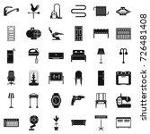 household icons set. simple... | Shutterstock .eps vector #726481408