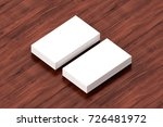 business cards blank mockup  ... | Shutterstock . vector #726481972