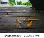 closeup of fall leaf   Shutterstock . vector #726483796