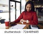 successful afro american... | Shutterstock . vector #726489685