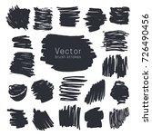 set of black ink brush strokes... | Shutterstock .eps vector #726490456