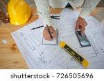 construction engineering.... | Shutterstock . vector #726505696