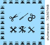 options icons set vector... | Shutterstock .eps vector #726507448