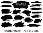 grange collection. vector black ... | Shutterstock .eps vector #726512986