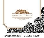 vintage delicate invitation... | Shutterstock . vector #726514525