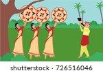 bihu man blowing on a pepa... | Shutterstock .eps vector #726516046