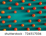 red tomatoes cherry  scattered... | Shutterstock . vector #726517036