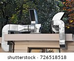 industrial steel air... | Shutterstock . vector #726518518