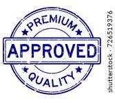 grunge blue premium quality... | Shutterstock .eps vector #726519376