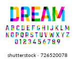 brush style colorful font ... | Shutterstock .eps vector #726520078