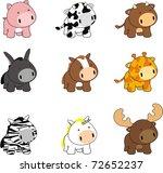 baby cartoon animals set in... | Shutterstock .eps vector #72652237