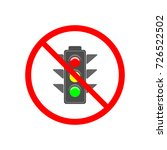no stoplight sign. icon traffic ... | Shutterstock .eps vector #726522502