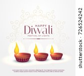 happy diwali background with... | Shutterstock .eps vector #726524242